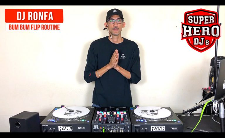 DJ RONFA - Bum Bum Flip Routine - SUPER HERO DJs